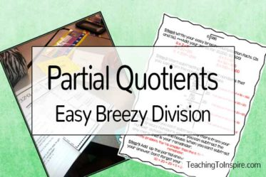 Partial Quotients: Easy Breezy Division {Lots of Freebies}