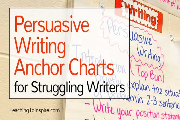 Persuasive Writing Anchor Charts For Struggling Writers Teaching With Jennifer Findley