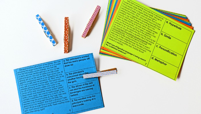These reading test prep task cards are the perfect way to have your students practice for multiple choice reading assessments.
