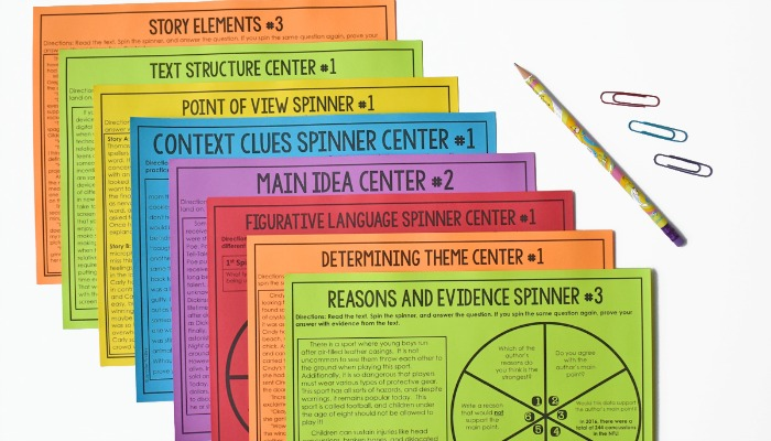 These reading spinners make the perfect literacy center! They also work great for reading stations, re-teaching groups, and early finishers.