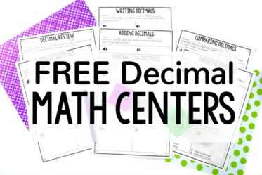 Need new decimal activities for independent practice or math centers? Check out this post for FREE low-prep printable decimal math centers.