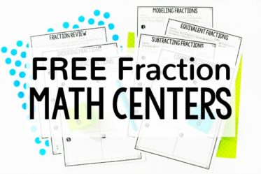 Need new fraction activities for independent practice or math centers? Check out this post for FREE low-prep printable fraction math centers for 4th and 5th grade.