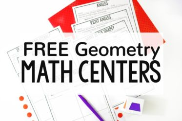 Need new geometry activities for independent practice or math centers? Check out this post for FREE low-prep printable math centers that review 2-D shapes.