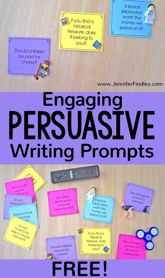 Free engaging persuasive writing prompts available on this post! Get some new ideas for persuasive writing topics and grab the free download to use for writing stations, centers, or student-choice.