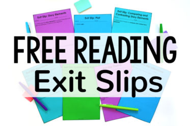 Free Reading Exit Slips for 4th and 5th Grade