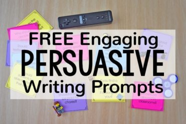 Engaging Persuasive Writing Prompts (Free Download)