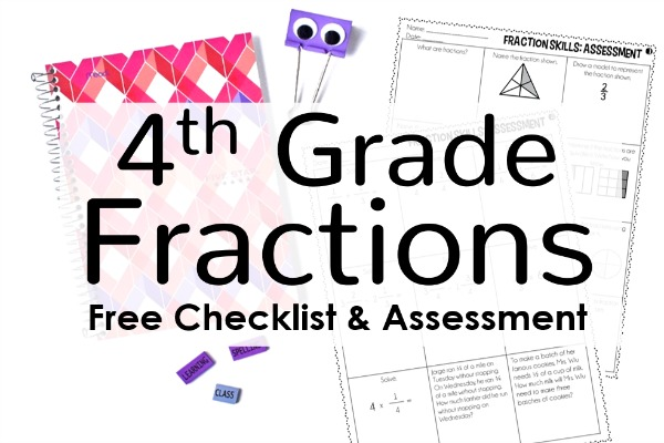 Free 4th Grade Fractions Pre Assessment And Checklist