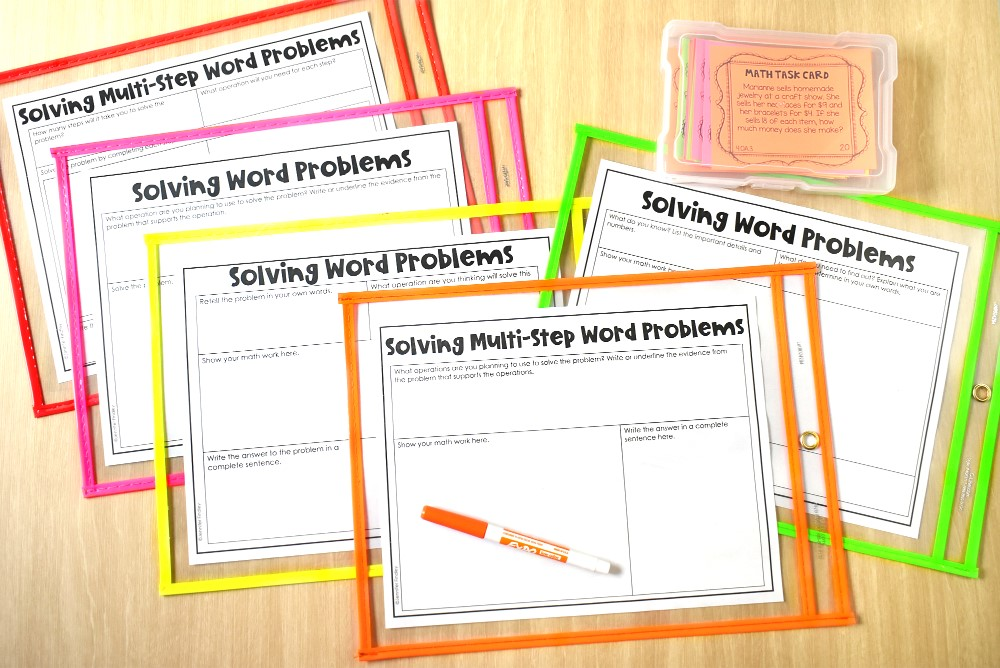Word Problem Strategies Analyzing Word Problems With Free Organizers Mats