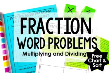 Fraction word problems can be tricky for students. This post shares an anchor chart and a free sort for multiplying and dividing fractions word problems.