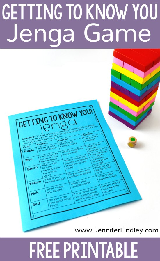Your students will love this getting to know you activity using Jenga! Such a fun back to school activity to help students get to know more about their classmates!