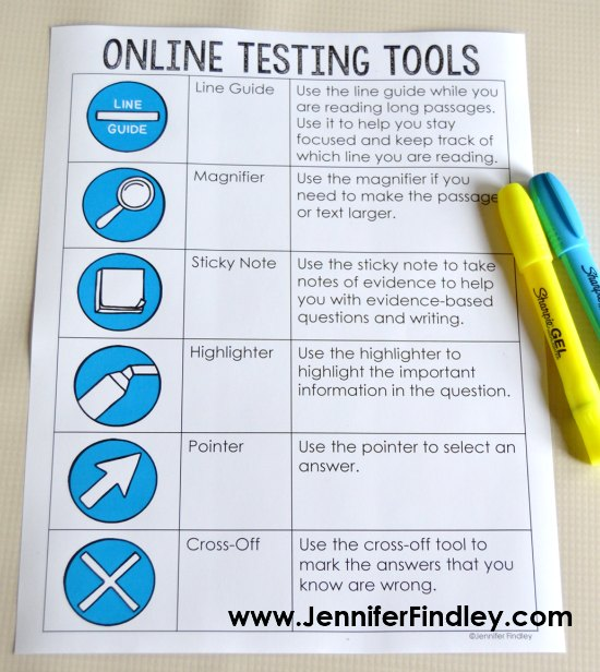 FREE poster for teaching online testing tools for test prep