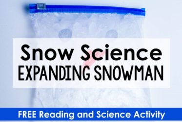 Snow science is an instant engagement factor for students! Use this snow science activity and the free reading passage and printables to engage your students in the science behind this classic demonstration.