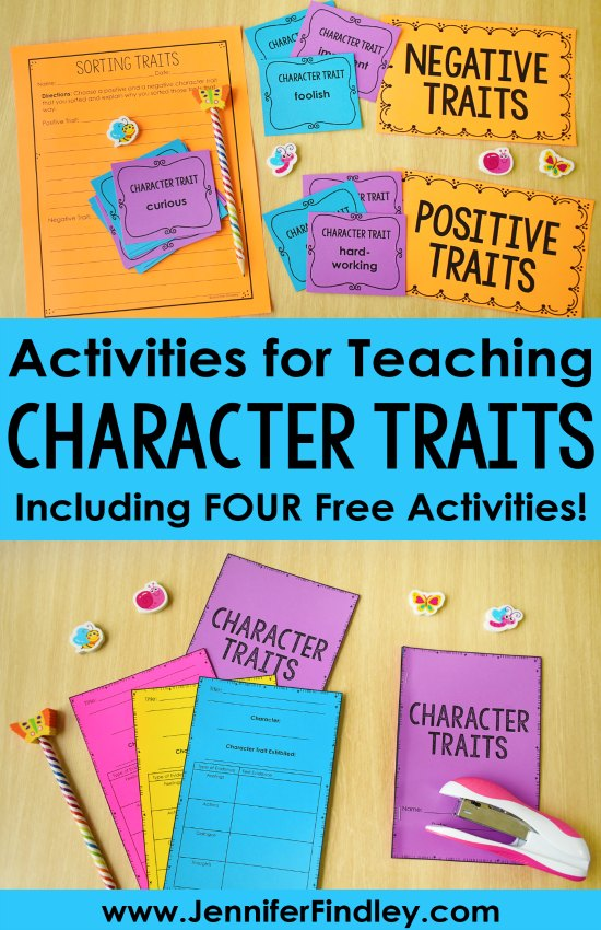 Tips for teaching character traits and free character trait activities! Character traits is an important reading skill to help students fully understand and relate to characters. This post shares tips for teaching and several free character trait activities for grades 3-5.