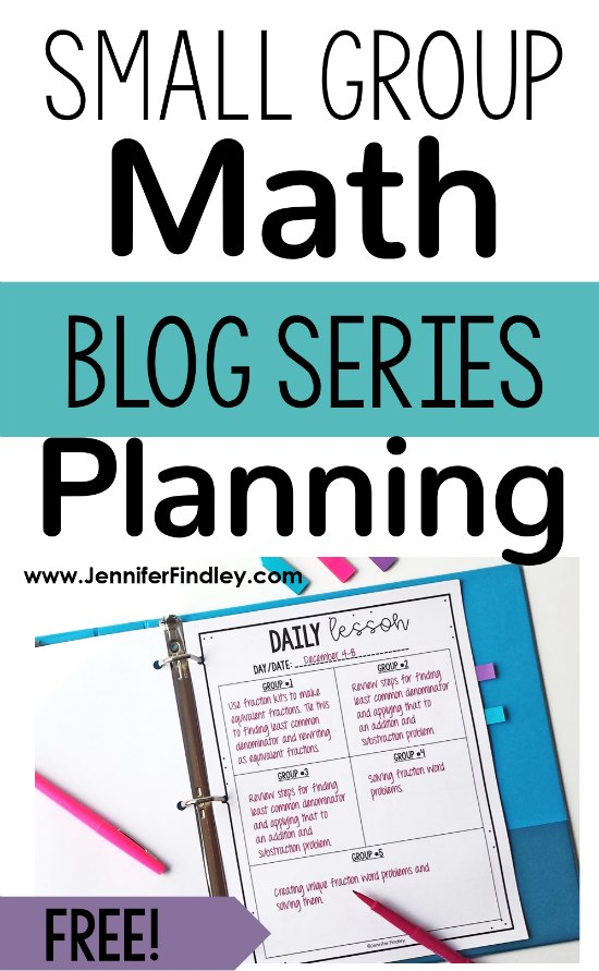 Want to maximize your small group math instruction? Check out this post for free planning forms and tips to help you plan your small group instruction in math.