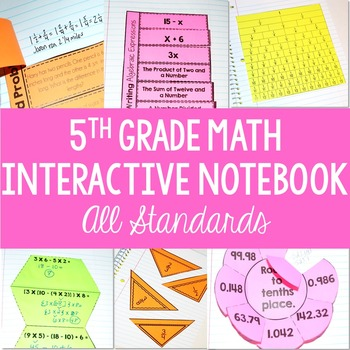 5th Grade Math Interactive Notebook Template