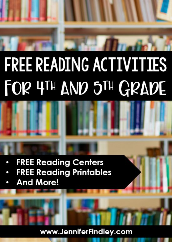 FREE reading activities for 4th and 5th grade! Need reading resources to supplement your reading instruction? Click through to get several FREE 4th and 5th grade reading activities and centers.