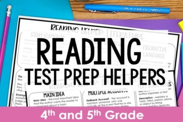 FREE reading test prep helper! Remembering all the things can be difficult for students. Grab these FREE reading test prep helpers to support your students with 4th and 5th grade reading standards.