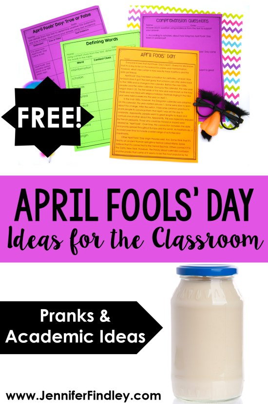 Want to celebrate April Fools' Day in your classroom? This post shares several teacher pranks for April Fools' Day AND free academic resources if you prefer not to prank your students.
