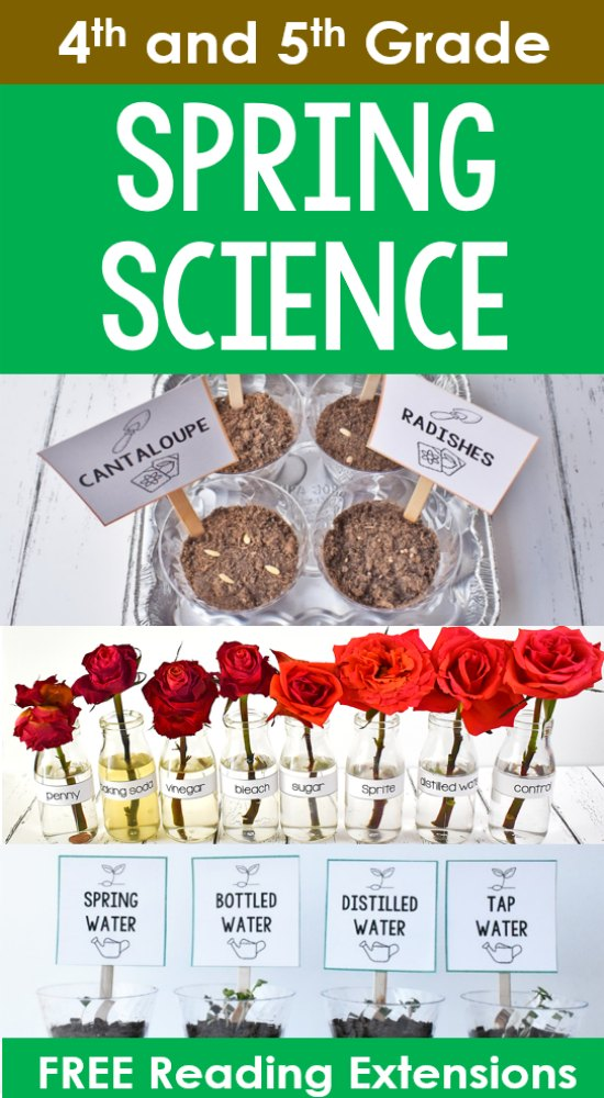 Engage your students with these spring science experiments. Use the free reading extensions and printables to increase the rigor and integrate science and reading.