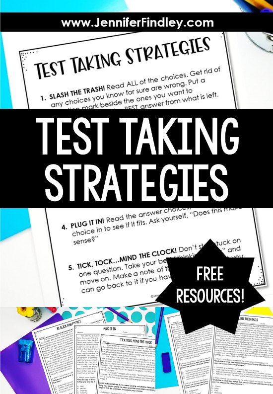 Purposeful test taking strategies can build confidence and help students show what they know on standardized tests. Grab free posters and sign up for FREE teaching resources to teach your students test taking strategies for reading.