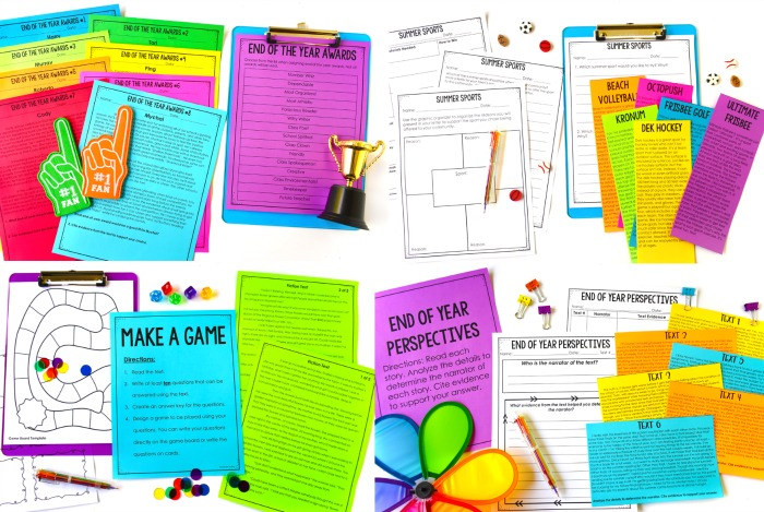 End of year activities and ideas for literacy! Use these engaging and rigorous end of the year literacy activities to keep your students engaged and working right up until the end.