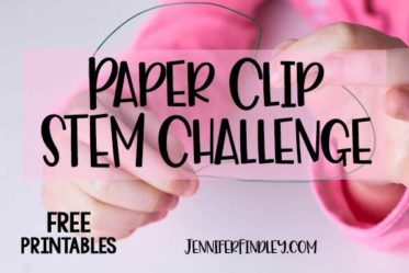 Design a paper clip stem challenge! Engage your students with this easy to execute paper clip stem activity. Free printables included on the post!