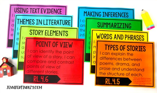FREE 4th Grade Literacy I Can Statements! Download free I Can Statements and read ideas for how to use these in your classroom.