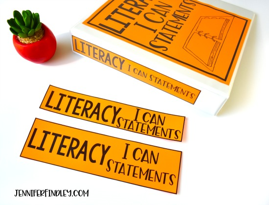 FREE Literacy I Can Statements! Download free I Can Statements and read ideas for how to use these in your classroom.