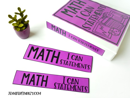 FREE Math I Can Statements! Download free I Can Statements for math and read ideas for how to use these in your classroom.