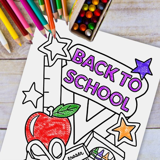 Free back to school coloring page for morning work on the first day of school! Worried about what to have the students do when they come in on the first day? Grab some free first day of school activities for morning work on this post!