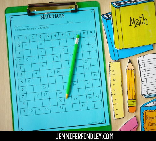 Free math printable for morning work on the first day of school! Worried about what to have the students do when they come in on the first day? Grab some free first day of school activities for morning work on this post!