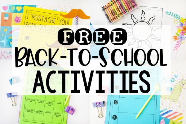 Free Back to School Activities for Grades 3-5