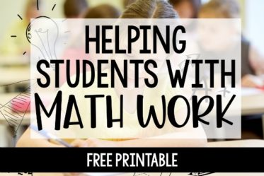 Learned helplessness is something to avoid at all costs. This post shares math strategies for helping students with math (independent work or homework).