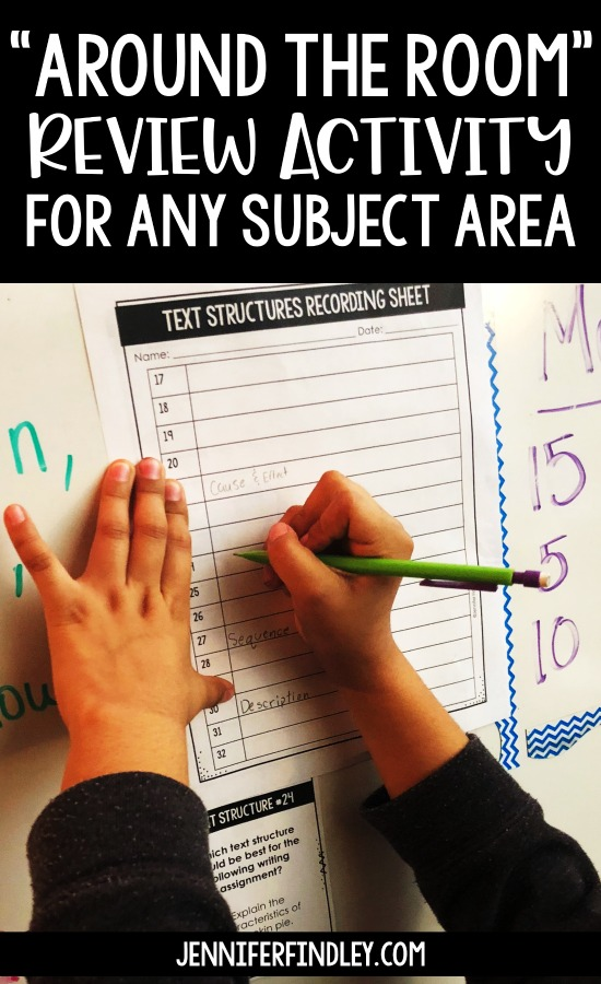 Around the Room Review is a low-prep engaging review activity that gets students moving and collaborating with each other. Read more details on this post!