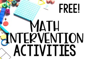 Free math intervention activities for grades 3-5! Use these free math activities to provide additional instruction and intervention to your students with gaps or who need more practice with specific math skills.