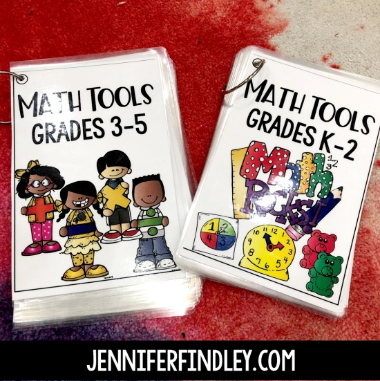 Free math tools for grades K-5! Using math tools is a great strategy for supporting students while also promoting independence. Read more and grab free printables to make your own math tools on this post.