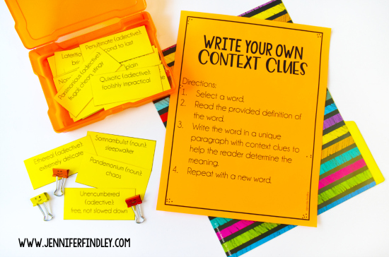 Free context clues activity for grades 4-5! Have your students apply their knowledge of context clues with this rigorous activity.
