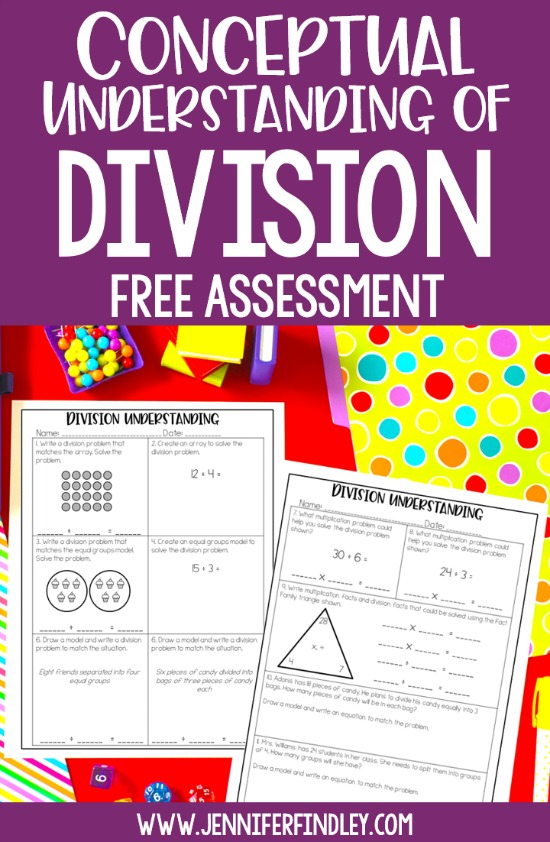 Use this free division intervention assessment to see if your 4th and 5th grade students have a strong conceptual understanding of division. Use the results of the assessment to plan your division intervention and reteaching groups.