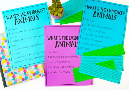 This simple to prep and implement text evidence activity is a perfect introductory activity! Check out this post for text evidence activities, tips, and strategies (with freebies!).