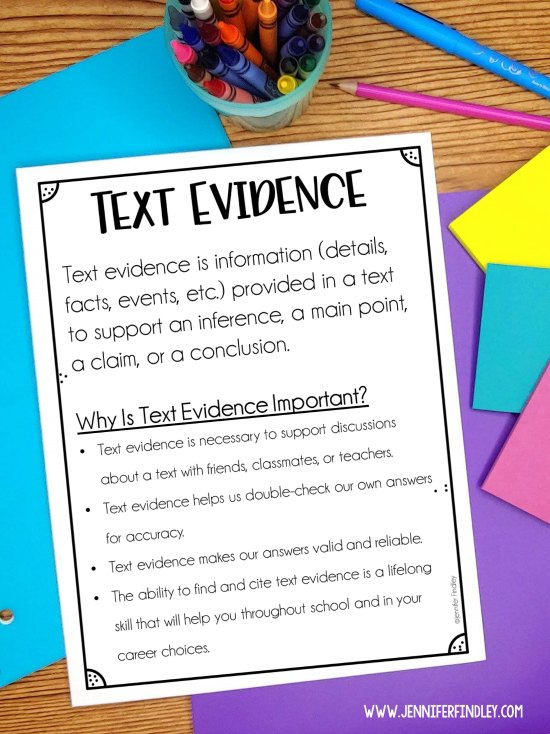 FREE printable to help you teach the importance of finding text evidence to your student. Lots more strategies and tips on this post!