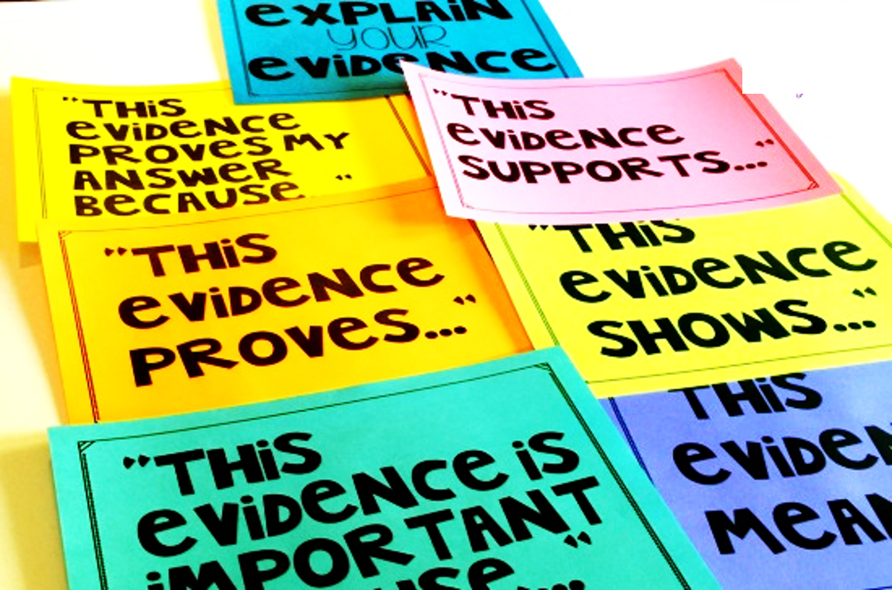 Help your students explain text evidence using these simple (and free) sentence stem posters!