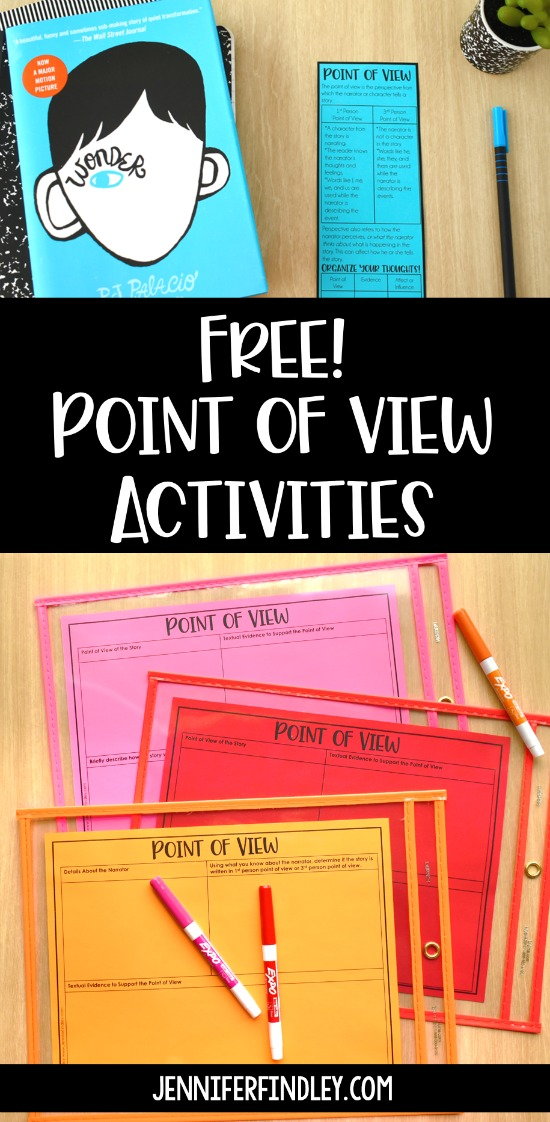 Free point of view activities and resources! Grab a few new activities for practicing and teaching point of view to add to your teaching toolbox.