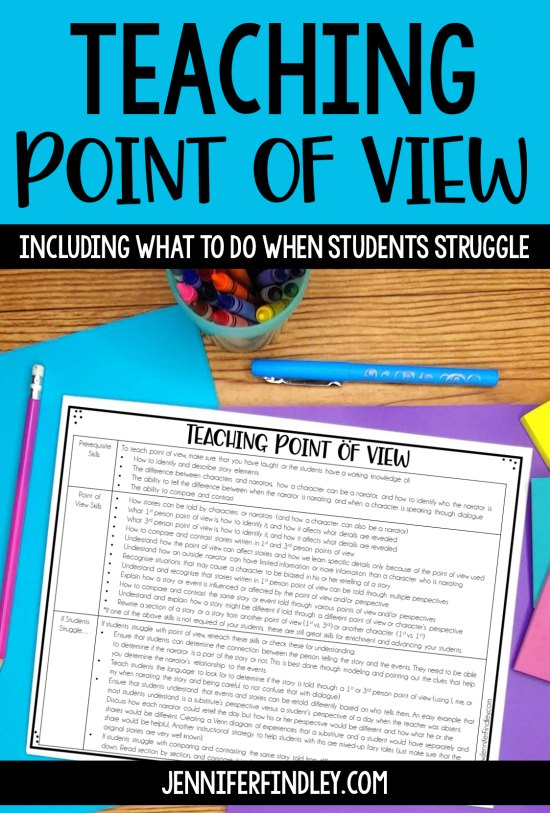 Teaching point view is not easy! This post will help! It includes pre-requisite skills, the skills needed for rigor, and what to do when students struggle.