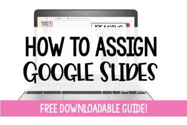 Learn how to assign Google Slides activities and lessons through Google Classroom with this free downloadable guide!
