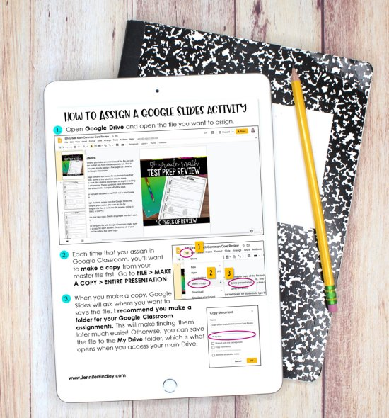 Free Guide! Learn how to assign Google Slides activities and lessons through Google Classroom with this free downloadable guide!