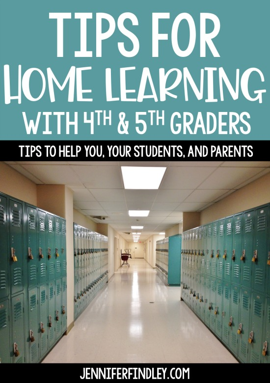 Are you struggling to plan for distance learning? We are all in this together! Read this post for my best tips for home learning with your students. Some of the remote learning tips apply to digital learning but many are applicable with printable work as well.