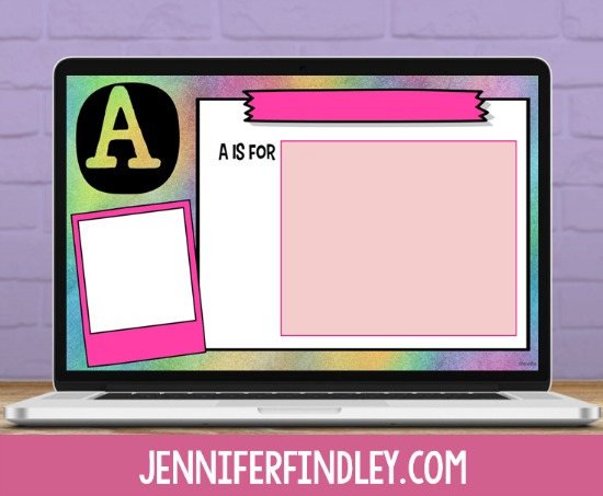 Grab a free digital ABC memory booklet as an end of the year activity! A printable version is also included!