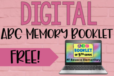 Need a digital end of the year activity? Grab this free digital ABC memory booklet template with options to assign it collaboratively or independently.