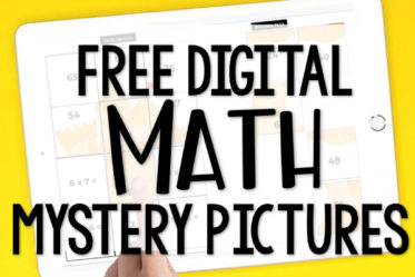 Free digital math activities for practicing multiplication facts! These mystery image reveal activities are perfect for a little extra multiplication practice for your 3rd-5th graders!