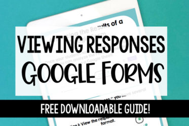 Free guide to viewing responses in Google Forms! Learn about the different ways that you can view the results of your Google Form assignments on this post.